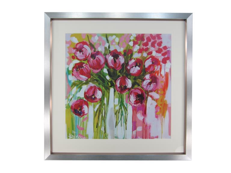10961 Razzle Dazzle Tulips 84 x 84cm