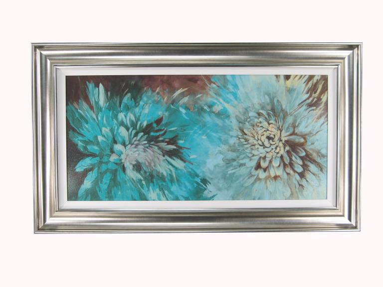12177 Turquoise Bloom 119 x 69cm