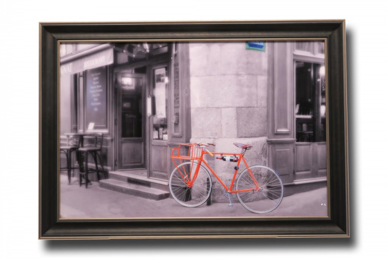 13429 Orange Bicyclette 105 x 75cm
