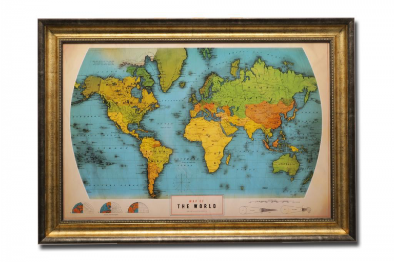 13433 Retro World Map 105 x 75cm