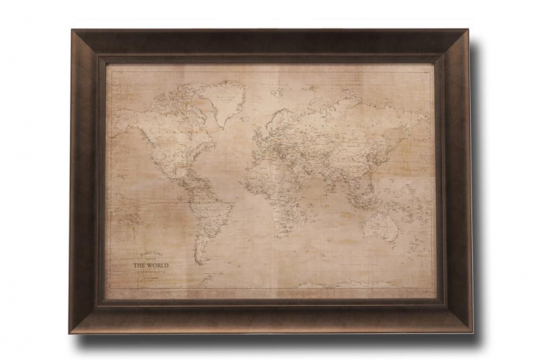 13496 Hamiltons World Map 86 x 66cm