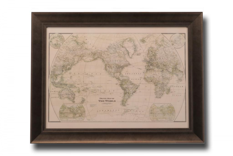 13497 Travel Map of the World 86 x 66cm