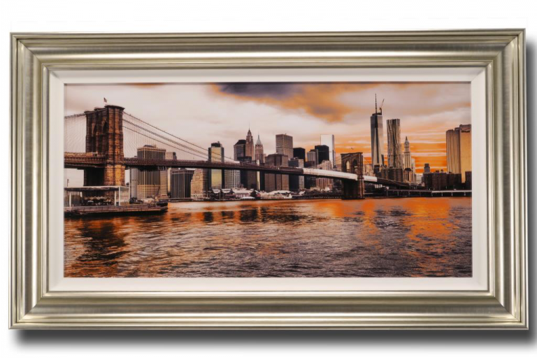 13601 Lower Manhattan Sunset 117 x 66cm