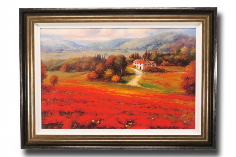 13613 Poppy Fields Afar 110 x 80cm