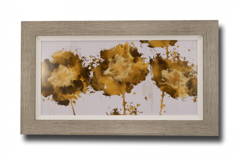13705 Golden Flower Trio 119 x 70cm