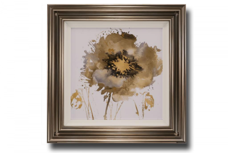 13708 Flower Burst in Gold II 66 x 66cm