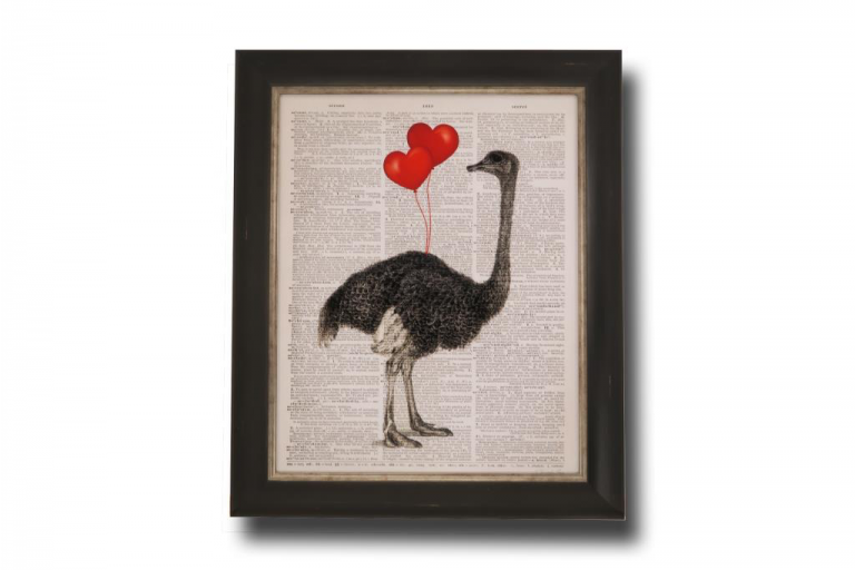 13712 Ostrich in Love 51 x 61cm