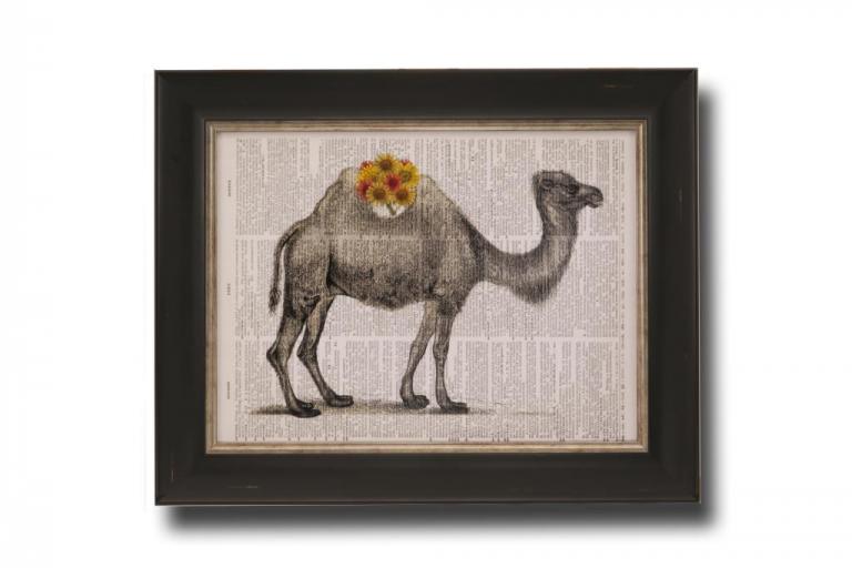13715 Flower Back Camel 51 x 41cm
