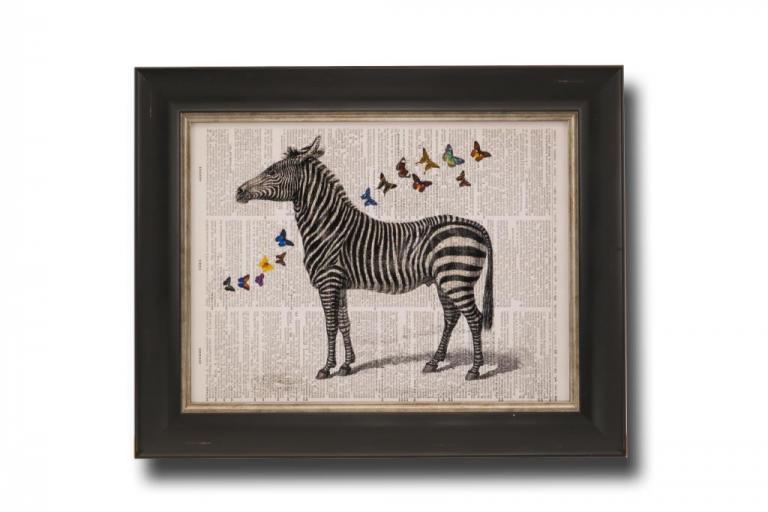 13716 Zebra & Butterflies 51 x 41cm