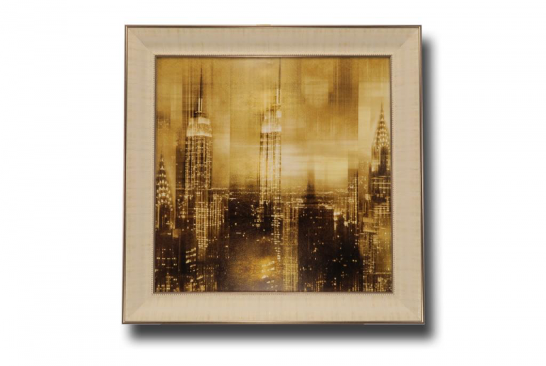 13721 Reflections in Gold II 84 x 84cm