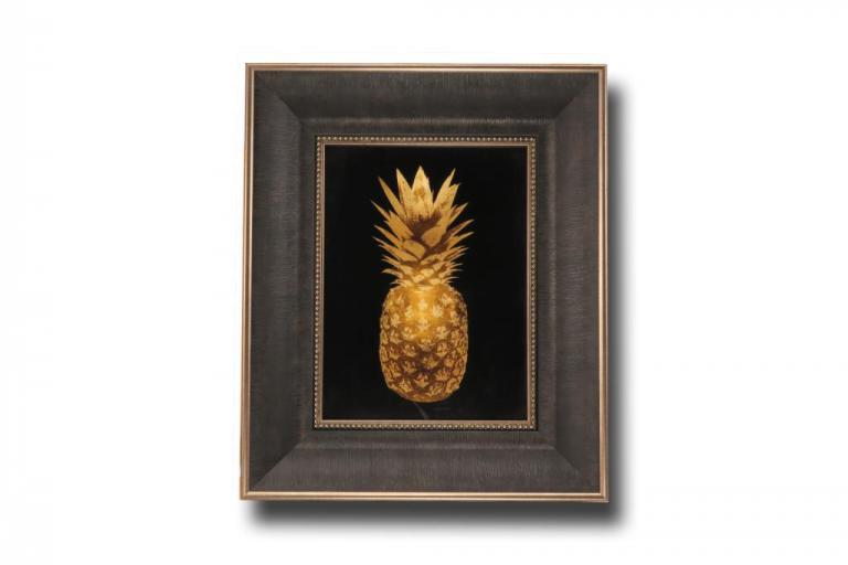 13744 Gold Pineapple II 38 x 46cm